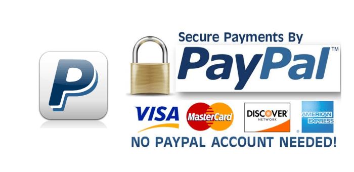 Now Accepting Payments by PayPal!